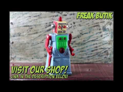 Roboter Blau Blechroboter Chief Robotman