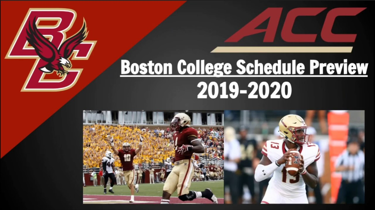 boston college football schedule 2020