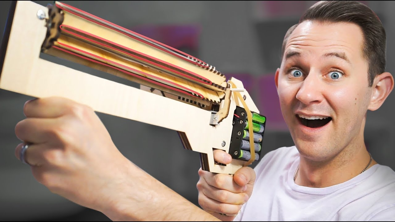 Rubber Band Machine Gun 10 Strange Projectile Weapons