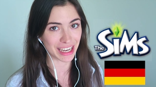 LEARNING GERMAN (beginners) while playing the SIMS: GESICHT, KLEIDUNG
