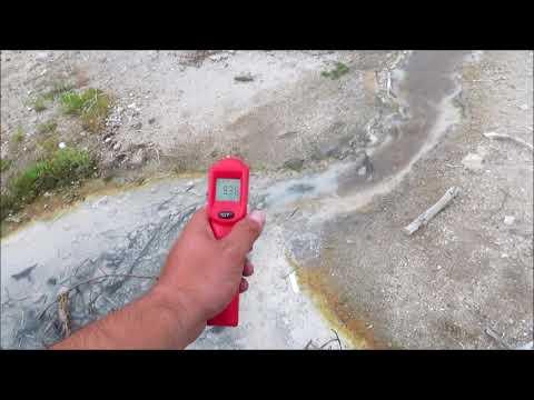Beryl Hot Spring w/Laser Temperatures Yellowstone 2018