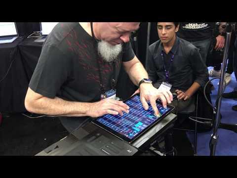 Jordan Rudess & Kashyap Iyengar on Geoshred at NAMM 2017