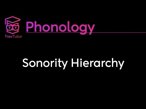 [Phonology] Sonority Hierarchy
