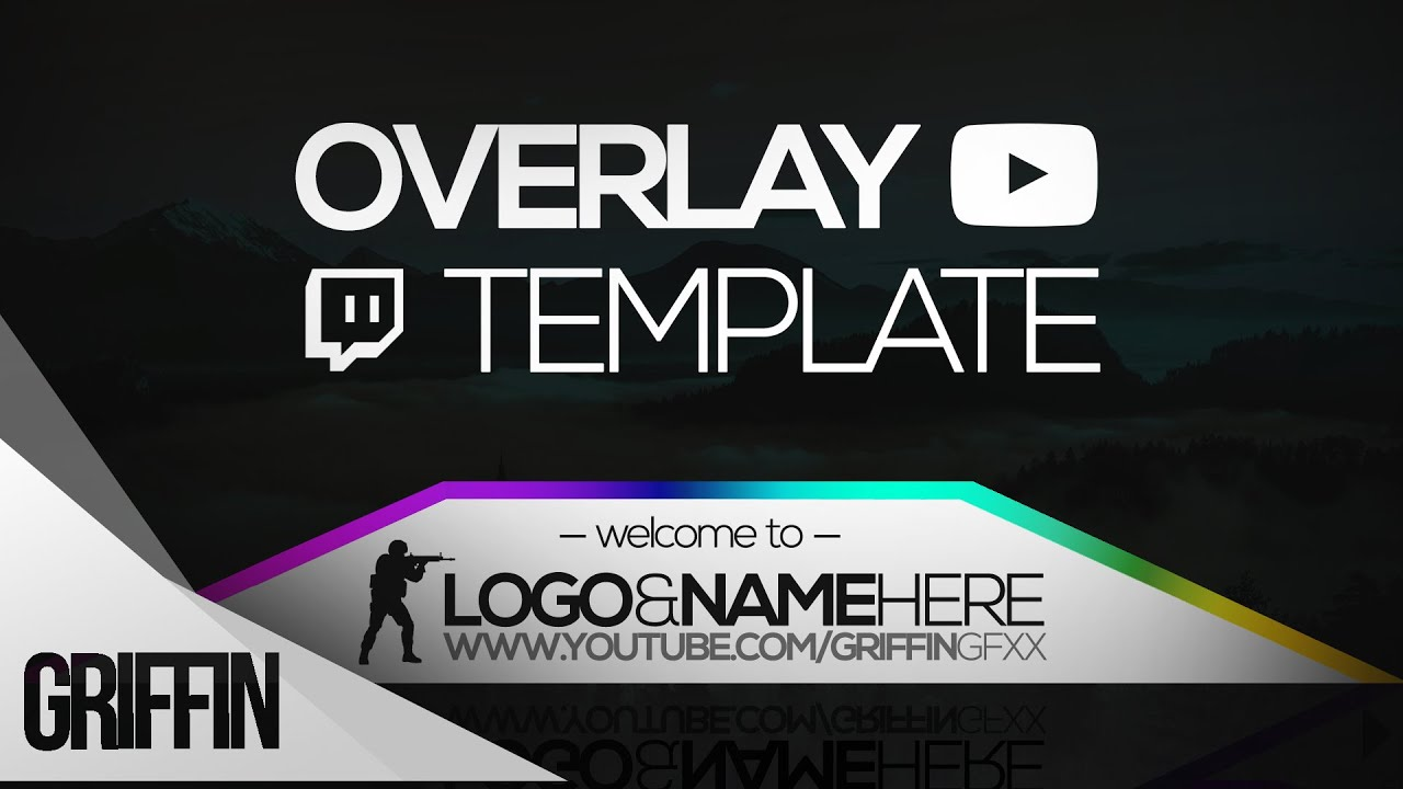 2016 free twitch overlay template psd file download youtube