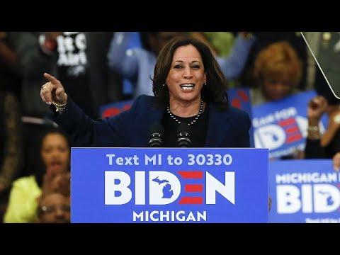 La senadora afroamericana Kamala Harris, compañera de candidatura de Biden en EEUU