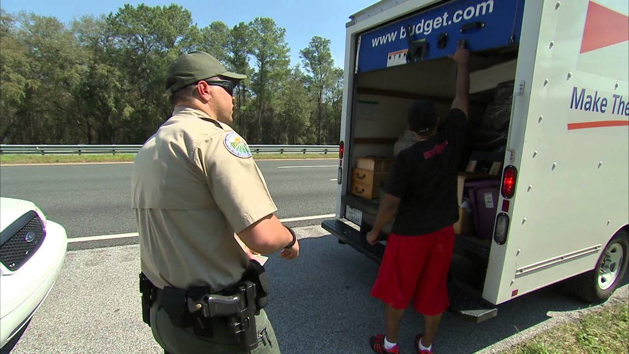 Florida Highway Patrol Traffic >> Conducting Traffic Stop at an Interstate Interdiction Station - YouTube