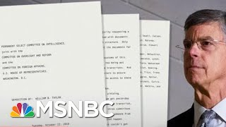 U.S. Diplomat Directly Ties Trump To Ukraine Plot - The Day That Was | MSNBC