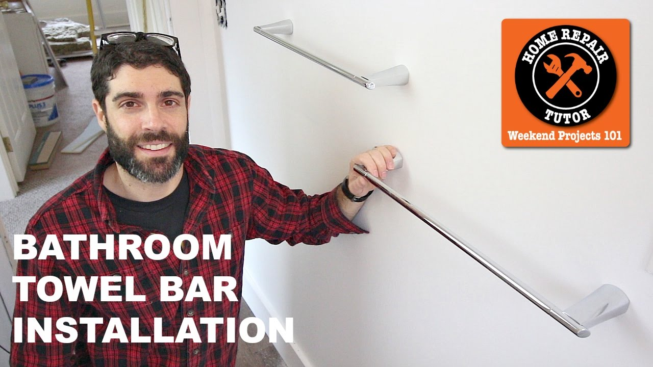Bathroom Towel Bars and Toilet Paper Holders (Quick Tips) - YouTube