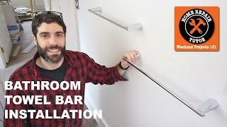 Bathroom Towel Bars And Toilet Paper Holders Quick Tips Youtube