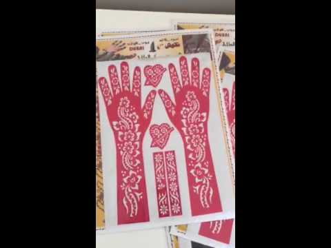 Henna Mehndi Stickers : Henna stickers youtube