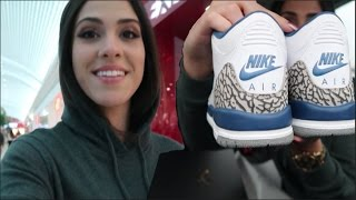 BLACK FRIDAY MALL VLOG | Sneaker Shopping for True Blue 3's