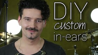 DIY custom in ear monitors - how to build custom in ears - uv resin - english subtitles