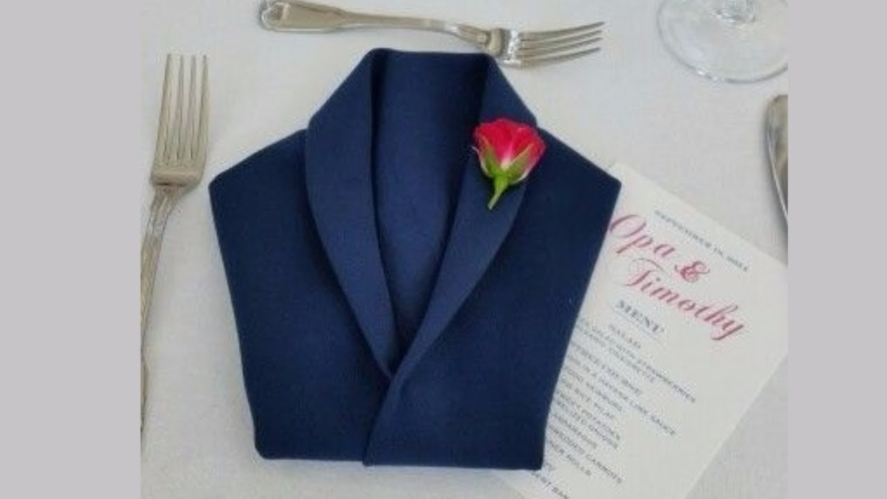 How To Fold Party Napkins Jacket Napkin Folding You