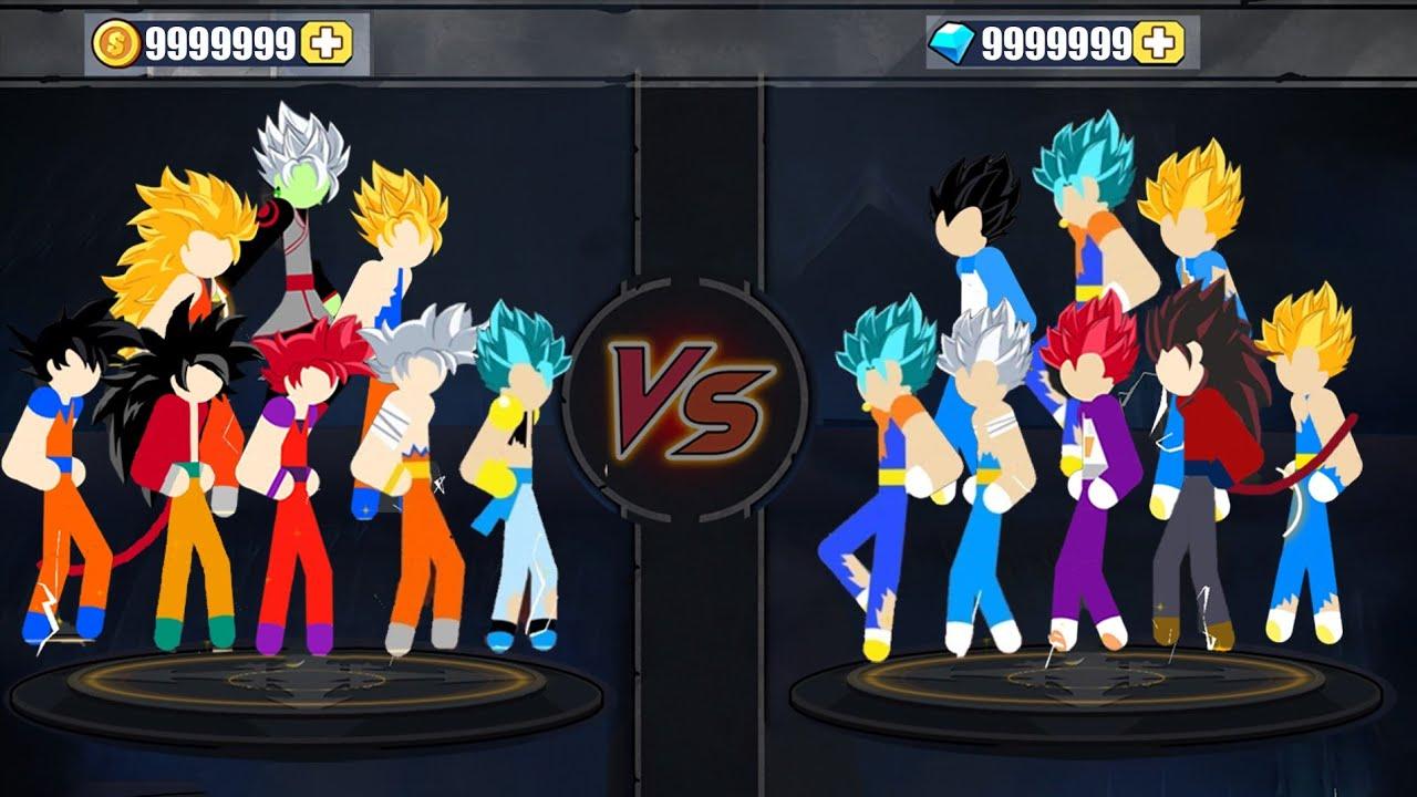 Stickman Warriors - Goku All Form  Vegeta All Form