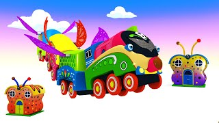 BUTTERFLY TRAIN - Toy Factory Butterfly Train Choo Choo Cartoon