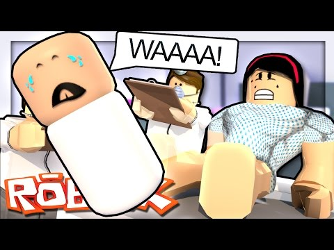 GIVING BIRTH TO A BABY IN ROBLOX?!   Roblox Hospital
