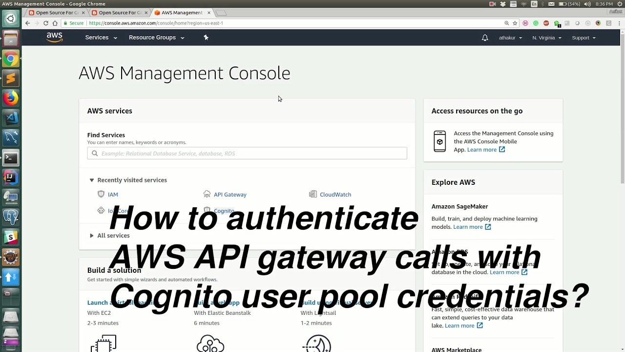 How to authenticate AWS API Gateway APIs with Cognito user pool?