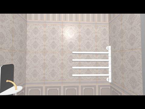 Плитка Дарлингтон в интерьере ванной комнаты | 3D-раскладка, дизайн-видео | Керама Марацци - 2015