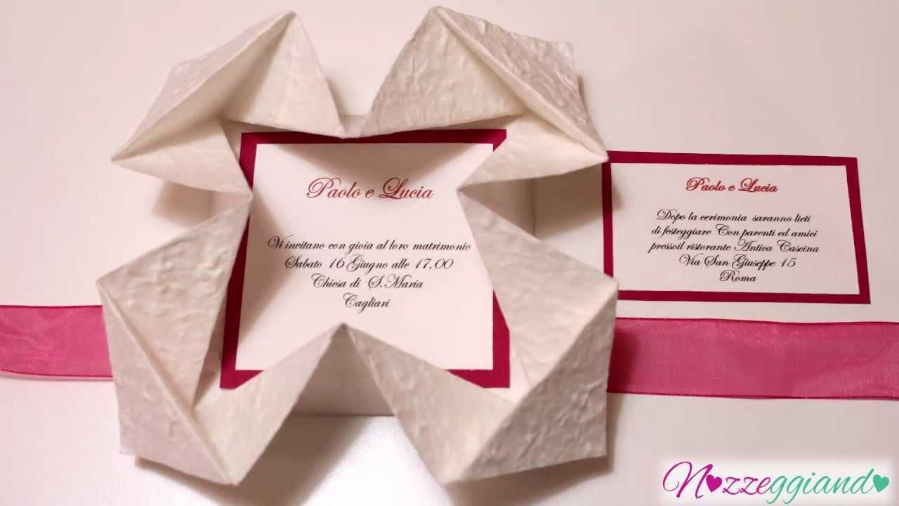 Partecipazioni Matrimonio Youtube.Trailer Partecipazione Origami Nozzeggiando Youtube