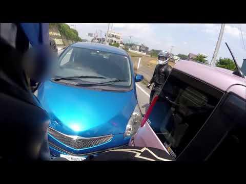 バイク乗りさん、車を運転する爺にころされかける