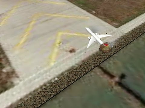 SFO crash: Plane hit seawall during landing