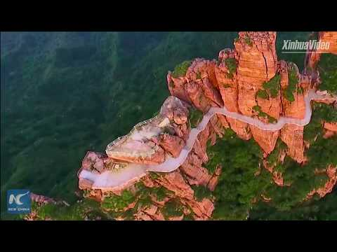 Amazing aerial view of East Taihang Mountains in N China