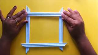 How to make Photo Frames with paper | DIY Paper Crafts | Paper frame