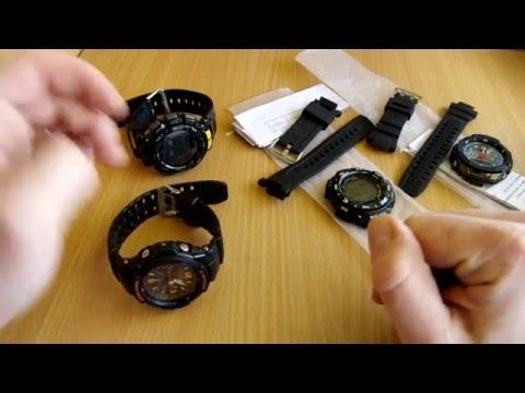 Замена ремешка на Casio PRG-240, GW-3000 - Китай спешит на помощь