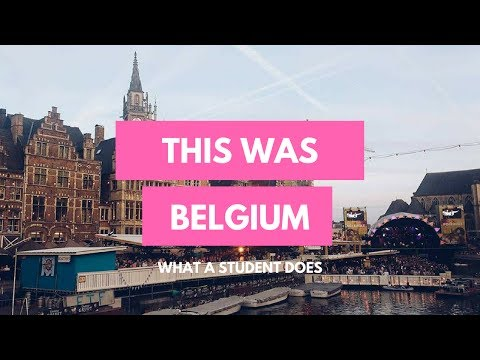 THIS WAS BELGIUM | What A Student Does | VLOG 1