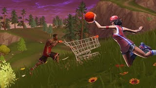 Can you put a basketball in a shoppingcart? - Fortnite