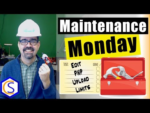 Edit PHP File Size Upload Limits For Joomla - 🛠 Maintenance Monday Live Stream #057
