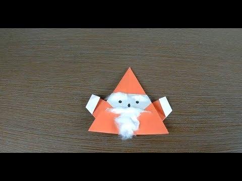 DIY. Origami Christmas Santa Claus/ Как сделать деда Мороза оригами из бумаги/ 聖誕老人摺紙 / サンタクロース折り紙