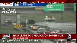 Heavy rains sweep though Houston