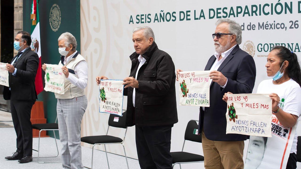 Informe a seis años de la desaparición de 43 normalistas de Ayotzinapa, desde Palacio Nacional