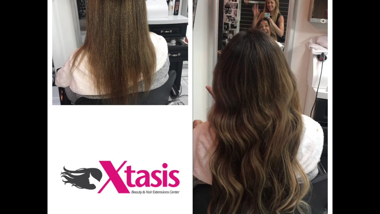 Tape Extensions Transformation At Xtasis Hair Extension Salon In