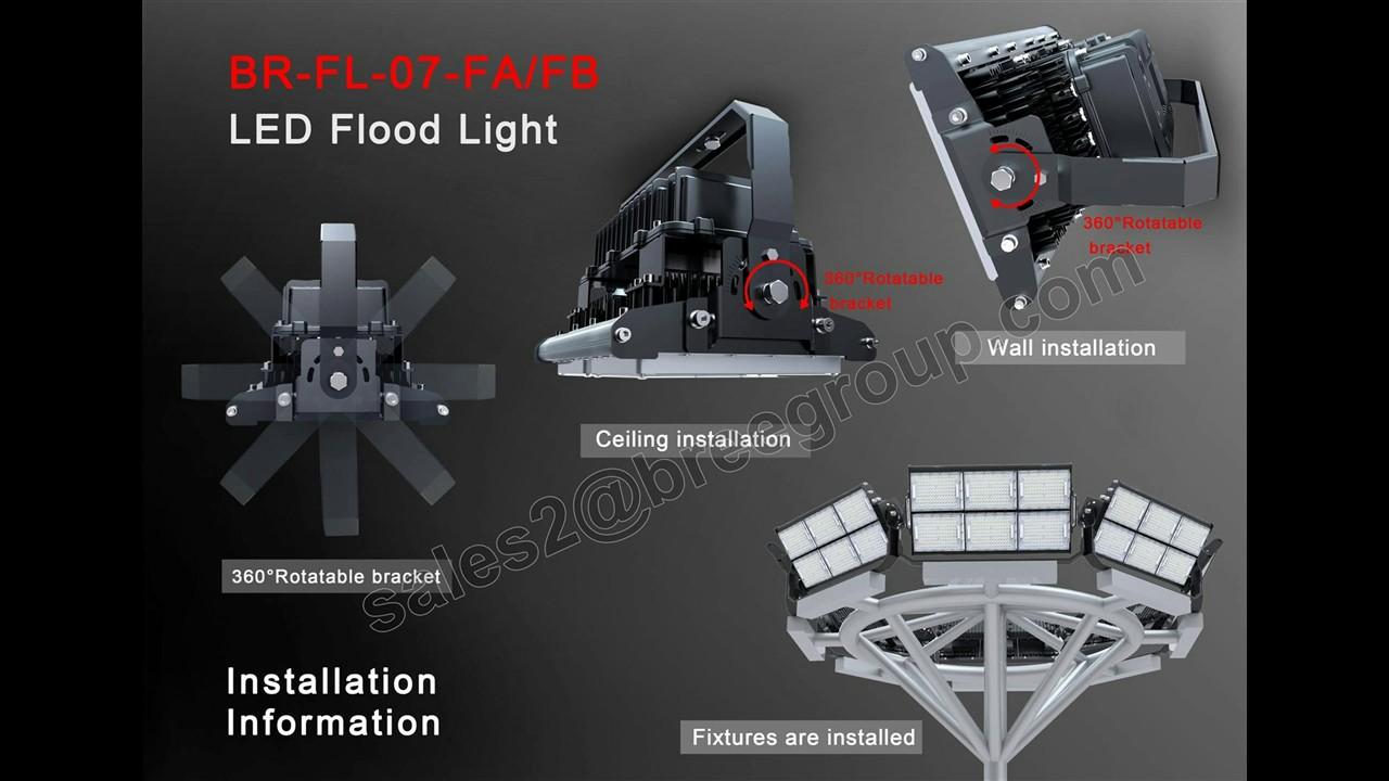 High Power 1000w 500w 750w Led Flood Lights For Stadium