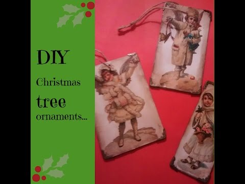 DIY/tutorial  Vintage Christmas 2015 tree ornament, home made v's