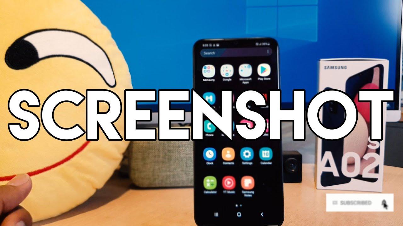 Samsung Galaxy A02s: How to Take Screenshot
