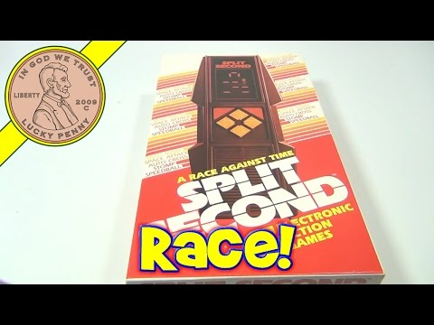 Split Second 5 Electronic Action Games #3700, 1980 Parker Brothers - A Race Against Time