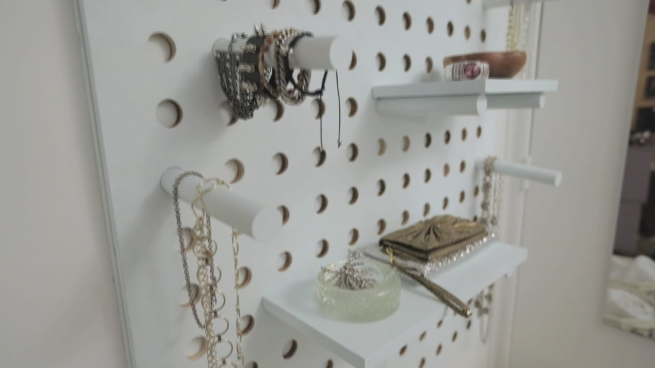 House Amp Home Pegboard Organizer Diy Youtube
