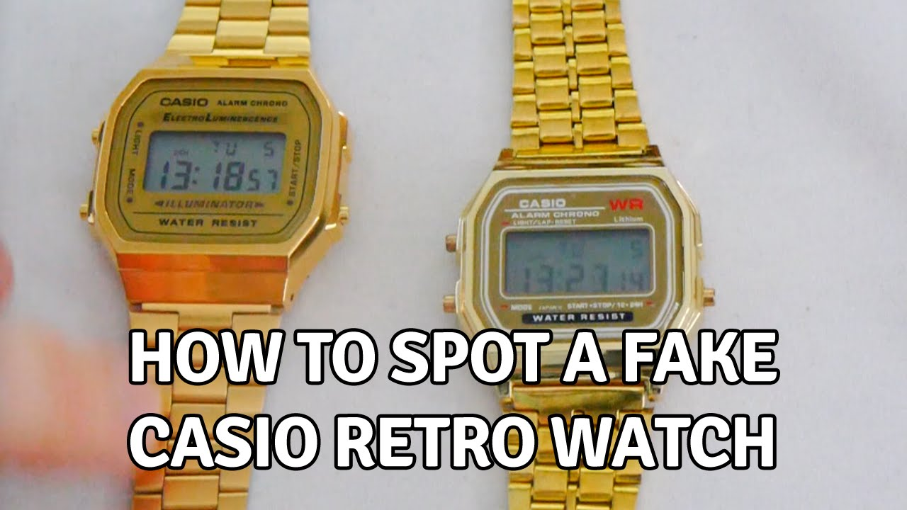 0ad52be5a9f9 How to Spot a Fake Casio Retro Watch - YouTube