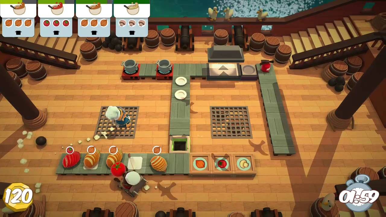 overcooked level 1 3 2 player co op 3 stars youtube