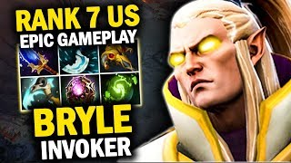 INCREDIBLE INVOKER GAMEPLAY BY BRYLE RANK 7 US vs KUNKKA MID | EPIC COMBO CATACLYSM + CHRONOSPHERE