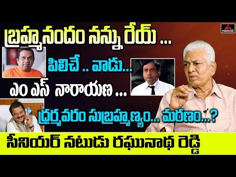 Tollywood Senior Actor Raghunatha Reddy Comments about Comedian Brahmanandam | Mirror TV Channel