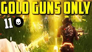 SO MANY LEGENDARIES! Solid Gold Mode (Fortnite: Battle Royale)