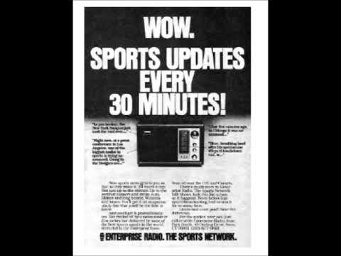 September 21, 1981-Enterprise Radio (The first all sports radio network)