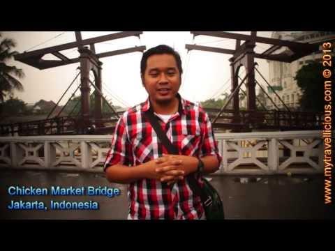 Chicken Market Bridge, Jakarta, Indonesia | Travel VLOG HD