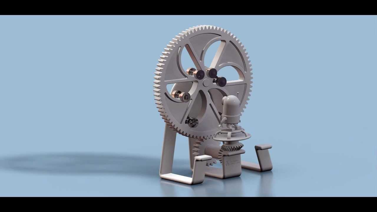 Creo Animation: Almost infinite - perpetual motion machine - YouTube