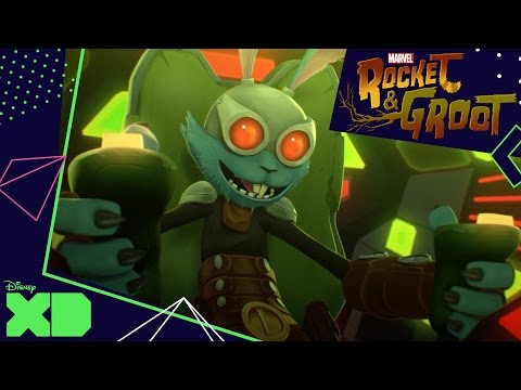 Rocket and Groot | The Space Race | Official Disney XD UK