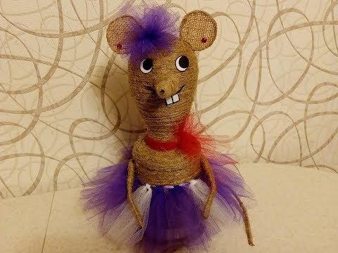 Мышка из джута. Мастер класс.
